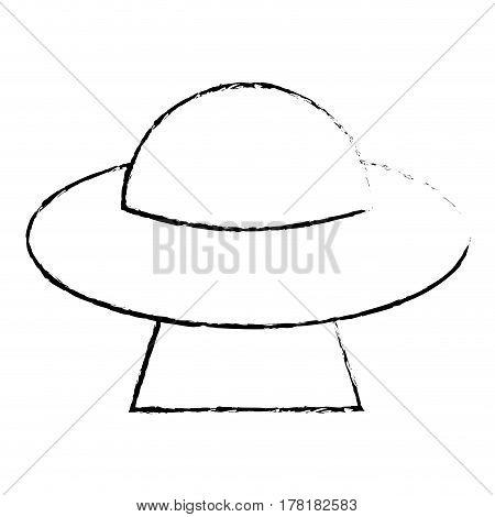 UFO invasion futuristic image sketch vector illustration eps 10