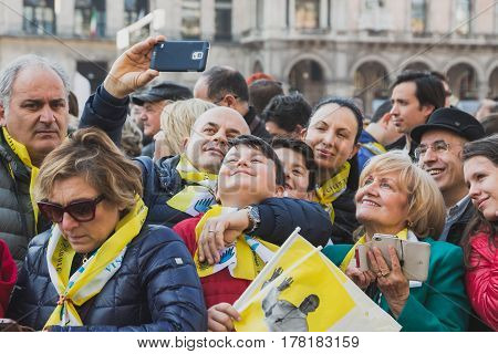 Pilgrims Welcome His Holiness Pope Francis