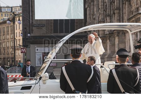His Holiness Pope Francis Meets The Pilgrims In Milan, Italy