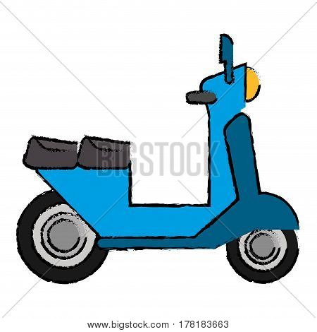 delivery scooter motor transport icon vector illustration eps 10
