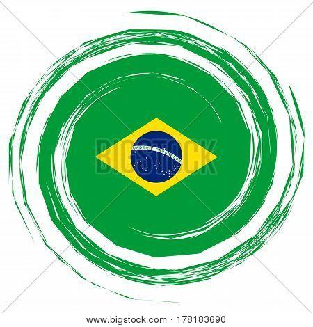 Green Brazil Flag Whirlpool illustration on white background