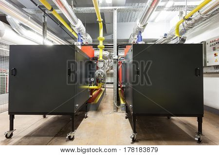 in a separate building this industrial gas burners for heating the complex