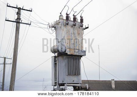 Old Three Phase Power Transformer