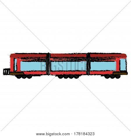locomotive train transport passenger vector illustration eps 10