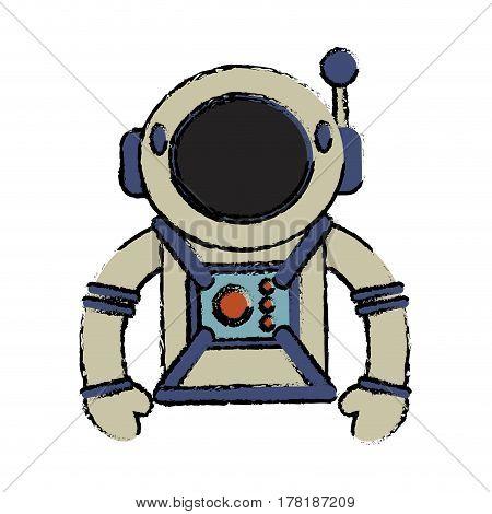 suit space astronaut image vector illustration eps 10