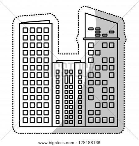 building facade estate cut line vector illustration eps 10