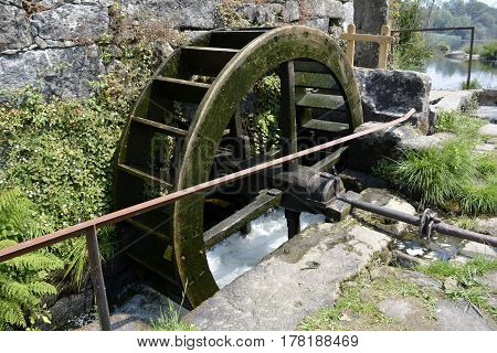 Old stoped wheel of the water mill