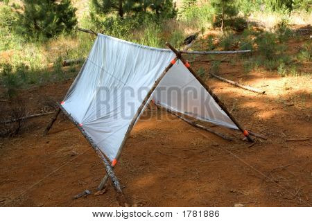 Temporary Survival Shelter