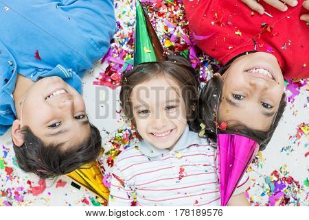 Group of kids in party