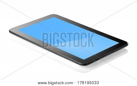 Black tablet isolated on a white background