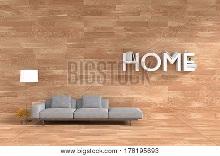 3D rendering : illustration of spacious bedroom in soft light color. comfortable double bed in elegant vintage loft wooden style bedroom.interior design of house.wood loft floor and wall. home decorate concept