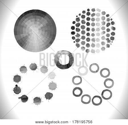 Black Vector Circle  Frame  With Splash