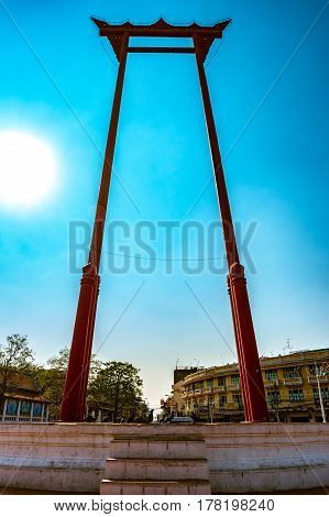 The giant swing, Sao Ching Cha, in Bangkok, Thailand