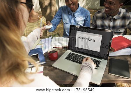 Communication Data System Technology Word