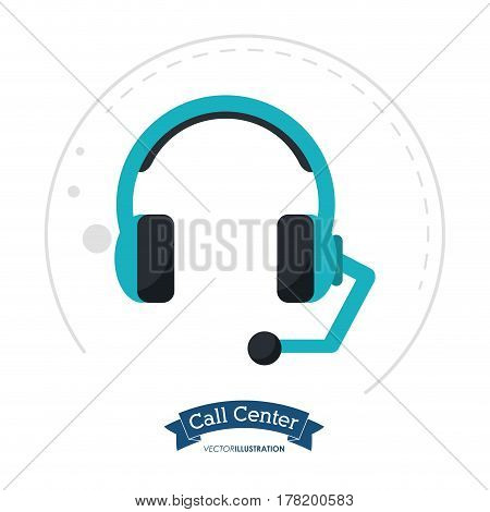 call center headset communication client vector illustration eps 10