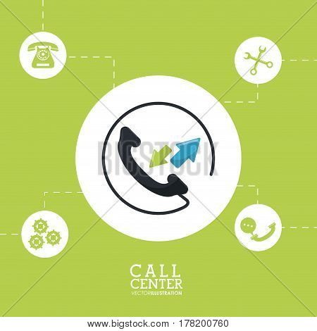 call center phone customer service vector illustration eps 10