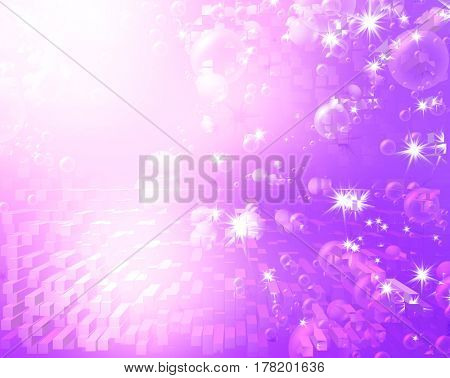 festive air bubbles, abstract purple background
