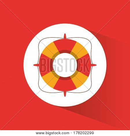 lifebuoy rescue protection vacations vector illustration eps 10