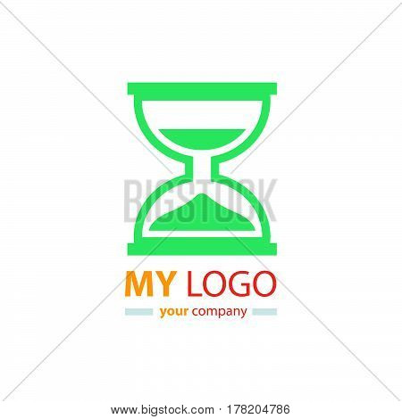 hourglass logo design vector design support eps10.