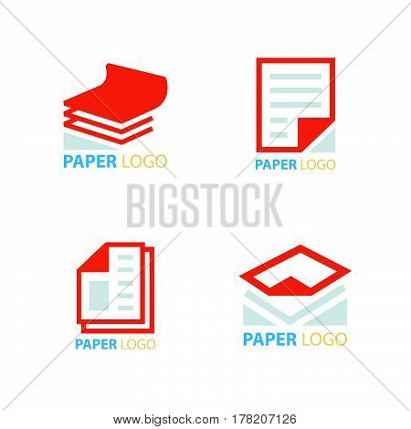 business paper icons set vector design support eps10.