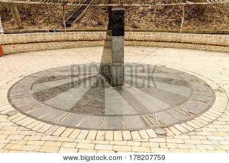 Sundial In Marble.