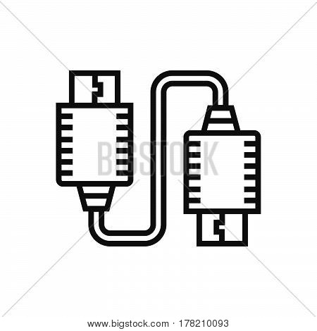 Twin USB Adapter icon vector design support file eps10.