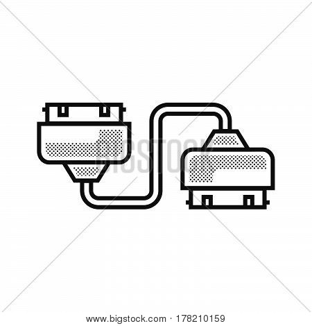 Twin Adapter icon Dotted Style vector design support file eps10.