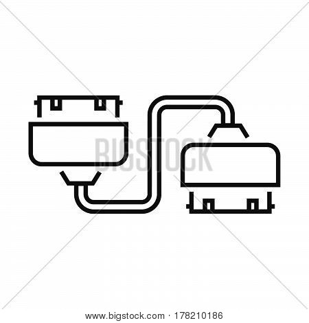 Twin Adapter Line icon vector design support file eps10.