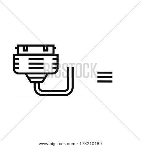 Twin Adapter Black icon vector design support file eps10.