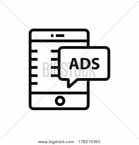Mobile Advertisement icon vector design support file eps10.