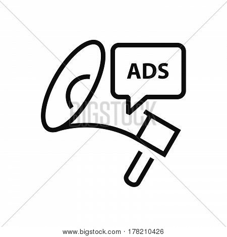 Megaphone Advertisement Line icon vector support file eps10.