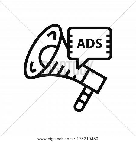 Megaphone Advertisement icon vector support file eps10.