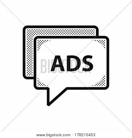 bubble talk Dotted Advertisement icon vector support file eps10.
