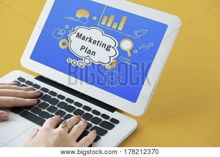Business Strategy Marketing Plan Illustration