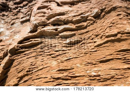 Stone Formation Showing Fault Lines stock photo