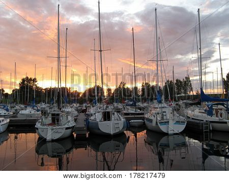 sailing sail sailboat boat yacht  water  sunset