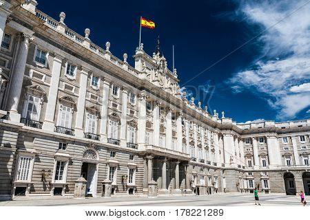 The Royal Palace of Madrid is the official residence of the Spanish Royal Family
