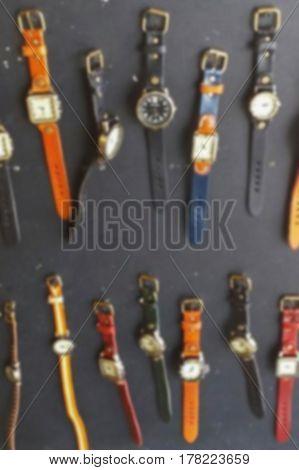 blurred photo, Blurry image, Retro clock, background