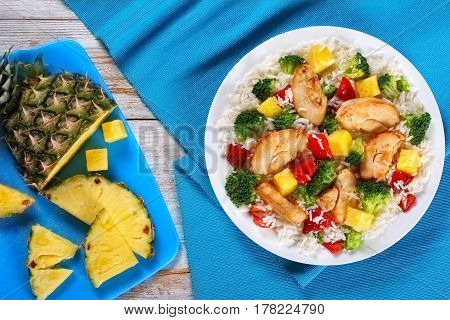 Grilled Chicken Breast Fillet With Rice