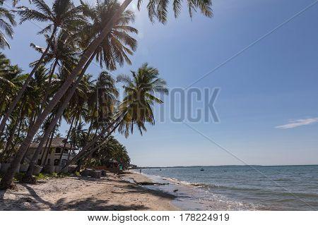 Mui Ne White Sandy Beach in Vietnam. Asia