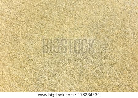 Scratched Industrial Brass Surface Background. High-detailed Metal Texture.
