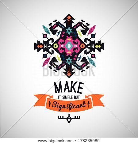 bright decorative element in native ethnic style
