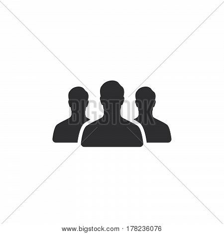 Team leader People icon vector filled flat sign solid pictogram isolated on white logo illustration
