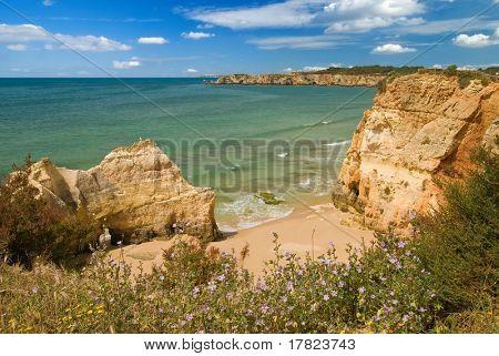 Algarve coastal view near the luxury Praia do Vau resort