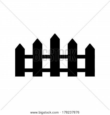 Black and white silhouette and isolated picket fence