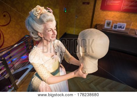 Bangkok - Jan 29: A Waxwork Of Madame Tussauds On Display At Madame Tussauds On January 29, 2016 In