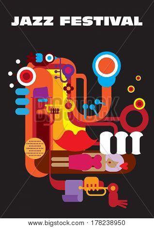 Creative conceptual music festival vector.  Jazz festival.