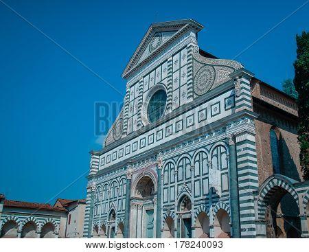 Church of Santa Maria Novella - famous landmark of Florence Italy