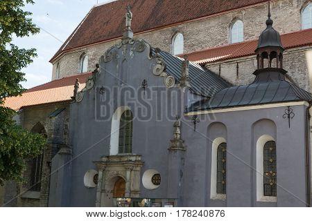 View of an old church in Tallinn Estonia