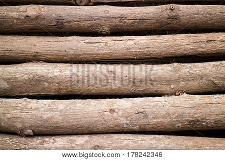 Local Timber Bridge Cross Walkway stock photo